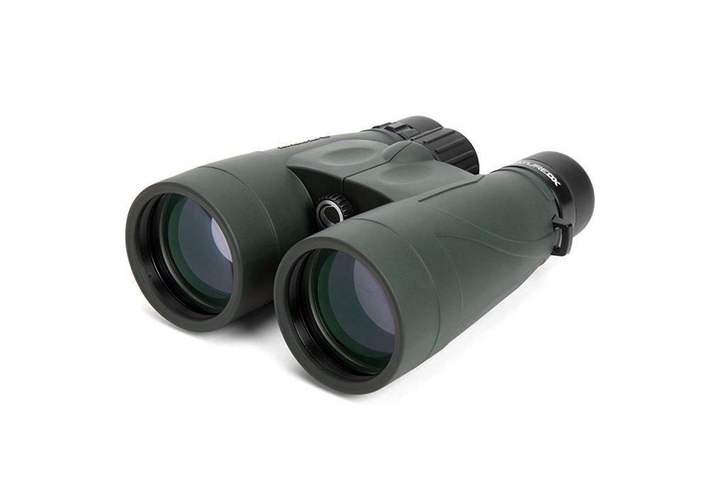 green binoculars with wide lenses